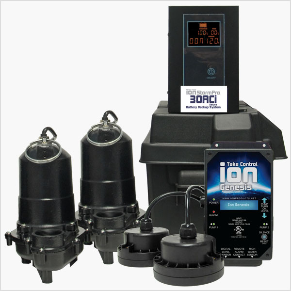 Ion Technologies 30ACi Deluxe Battery Backup Sump Pump System