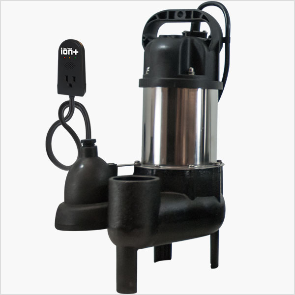 Ion Technologies SHV40i+ Sewage Ejector Pump with Built-In High Water Alarm