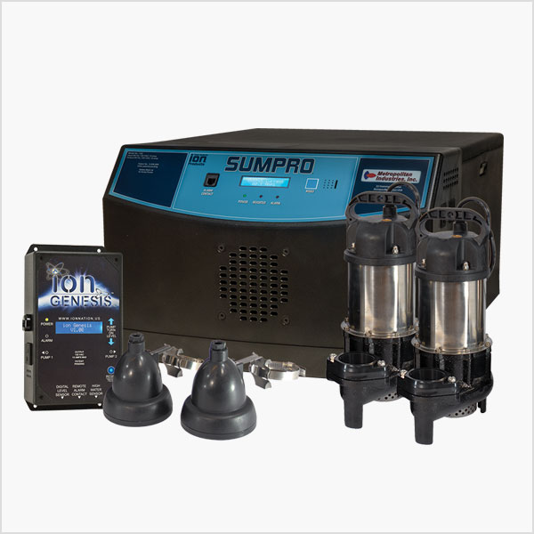 Ion Technologies Sumpro Platinum Battery Backup Pump System