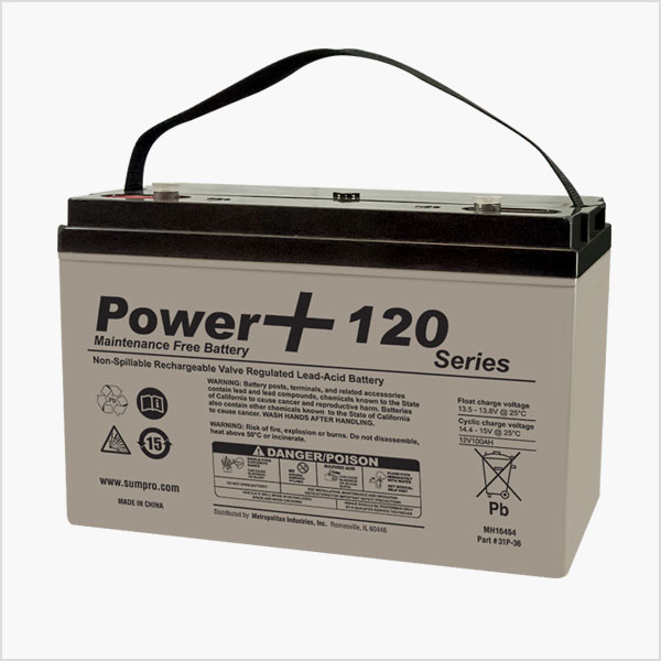 Power  Maintenance Free Sump Pump Battery