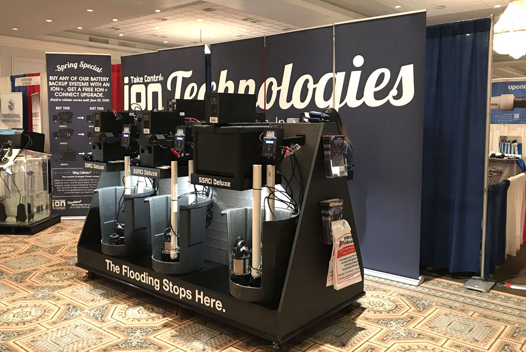 Display at Plumbing Trade Show
