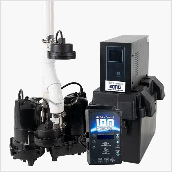 30ACi Power Pac Battery Backup Sump Pump System