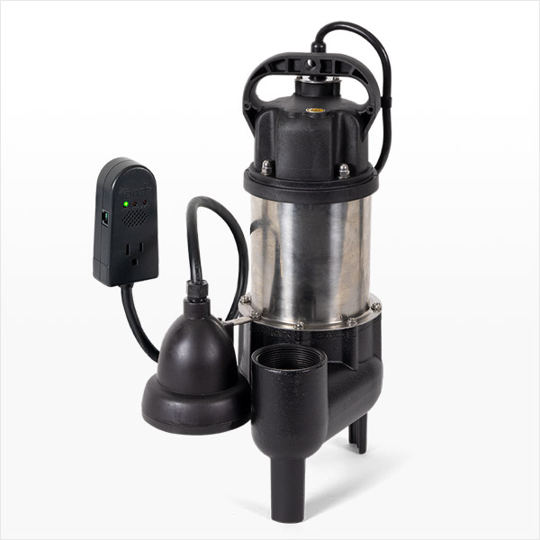 Ion Technologies SHV40i+ 1/2 HP Submersible All In One Sewage Ejector Pump